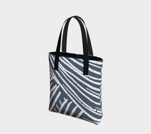 Load image into Gallery viewer, indigo and white deluxe women's handbag