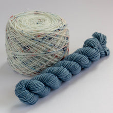 Load image into Gallery viewer, Sock Set with Speckled Cake and Indigo Mini -- Superwash Merino / Nylon