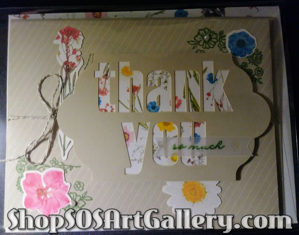 WILDFLOWER WISHES: Handmade Thank You Greeting Card by @SOSArtGallery