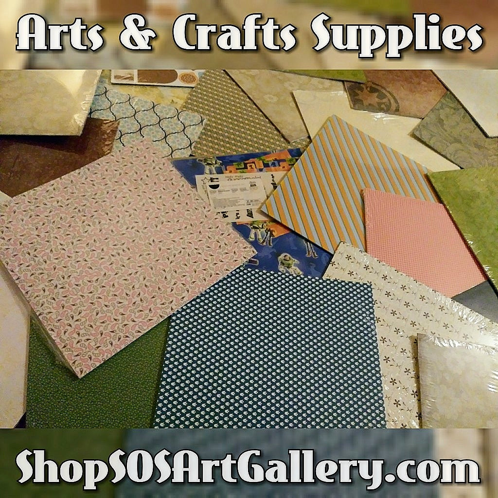 ARTS AND CRAFTS SUPPLIES: Retired Paper Packs