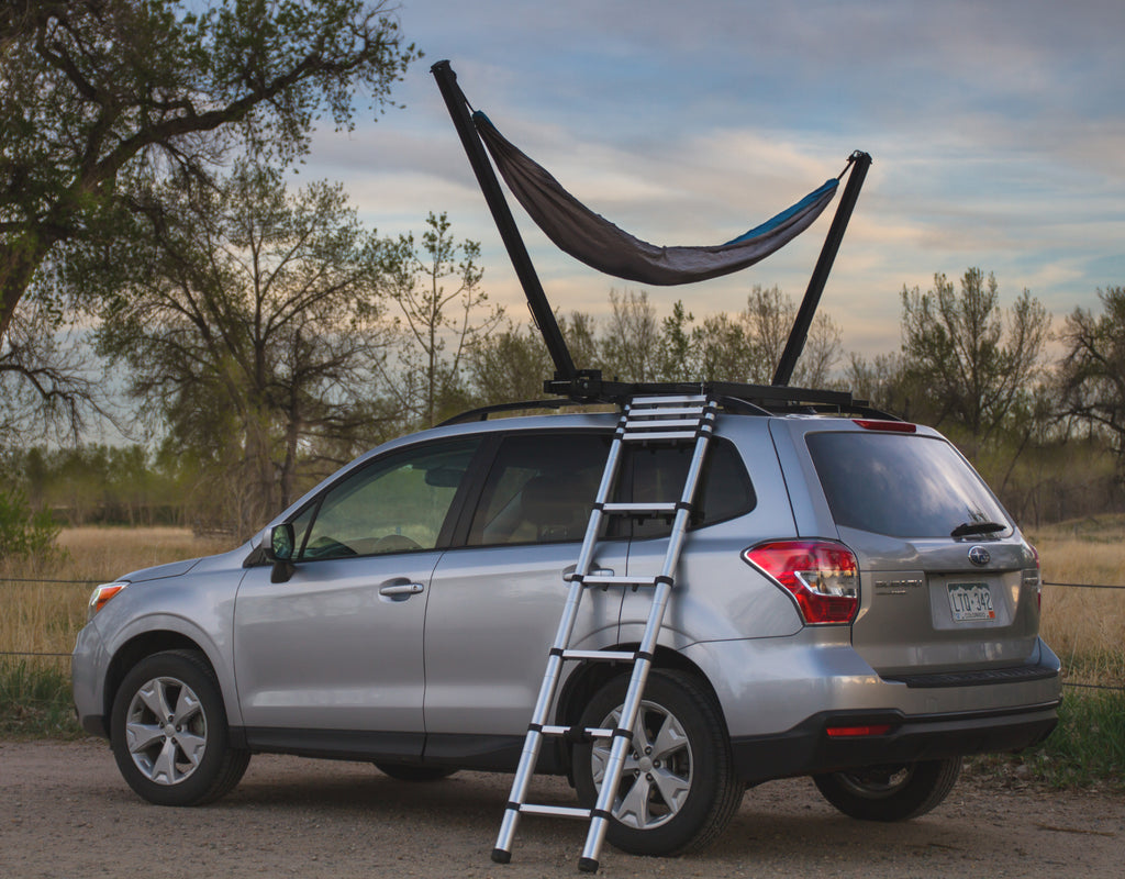 TrailNest Roof Top Hammock Stand with ladder