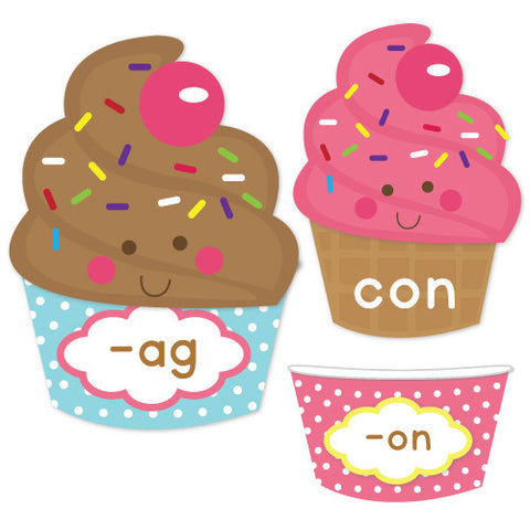 Ice Cream Sundae CVC Word Families