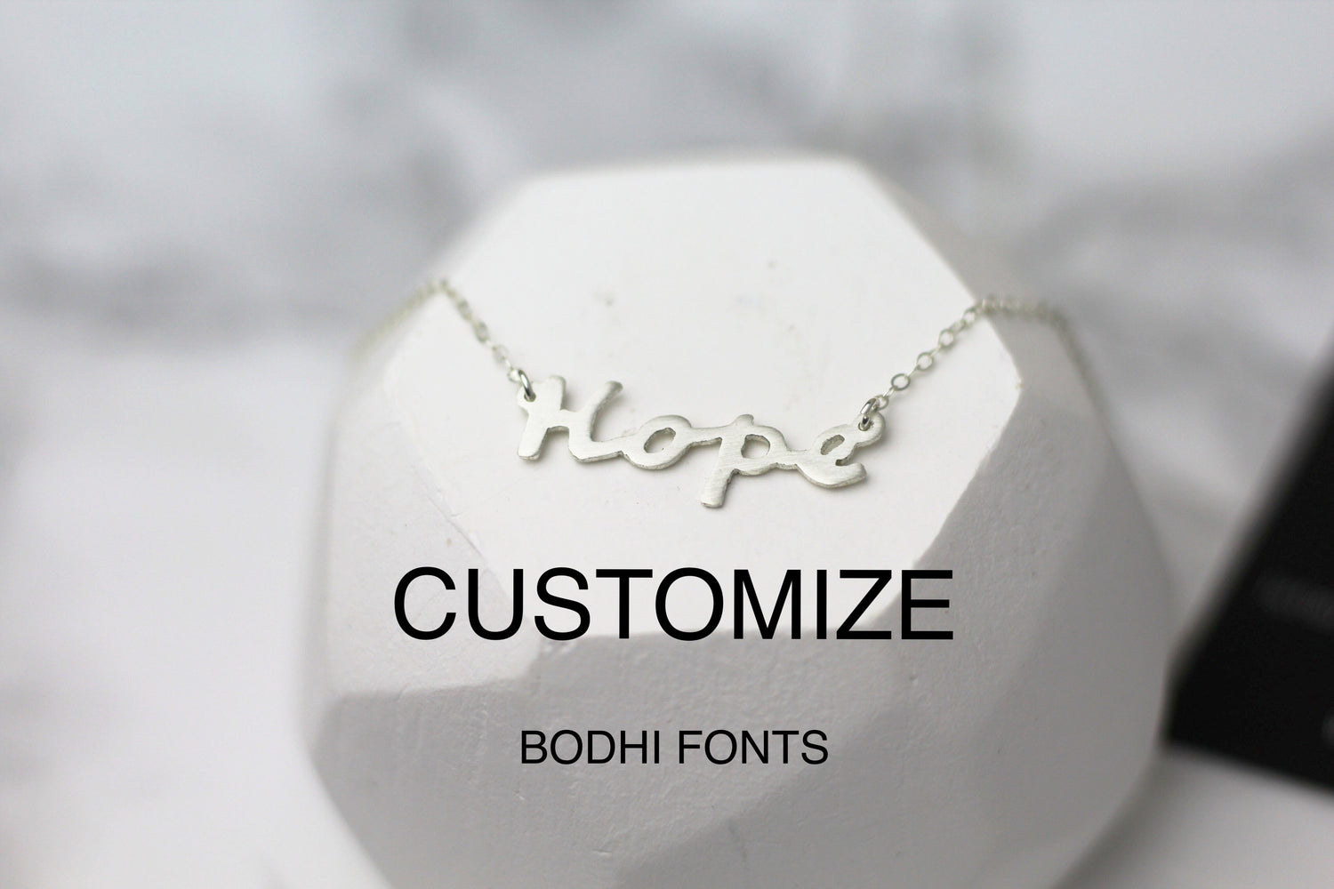 CUSTOMIZED Mantra Hand-Sawed Necklace (Bodhi Font)