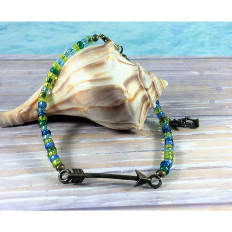 Beaded Ankle Bracelet - Tropically Inclined