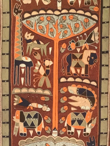 Namib Rust in Autumn Embroidered Cloth