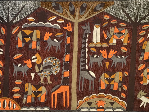 Namib Rust Animals under the Canopies Cloth