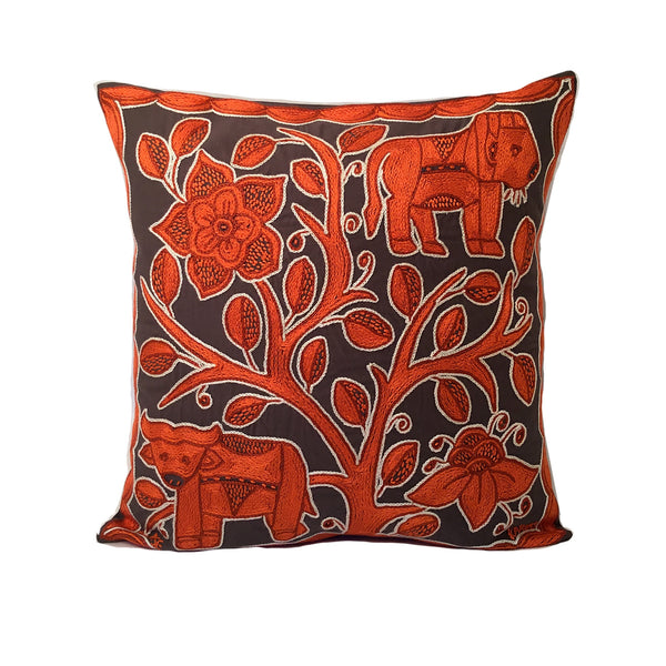 Namib Rust Lion Watching Monochrome Cushion Cover