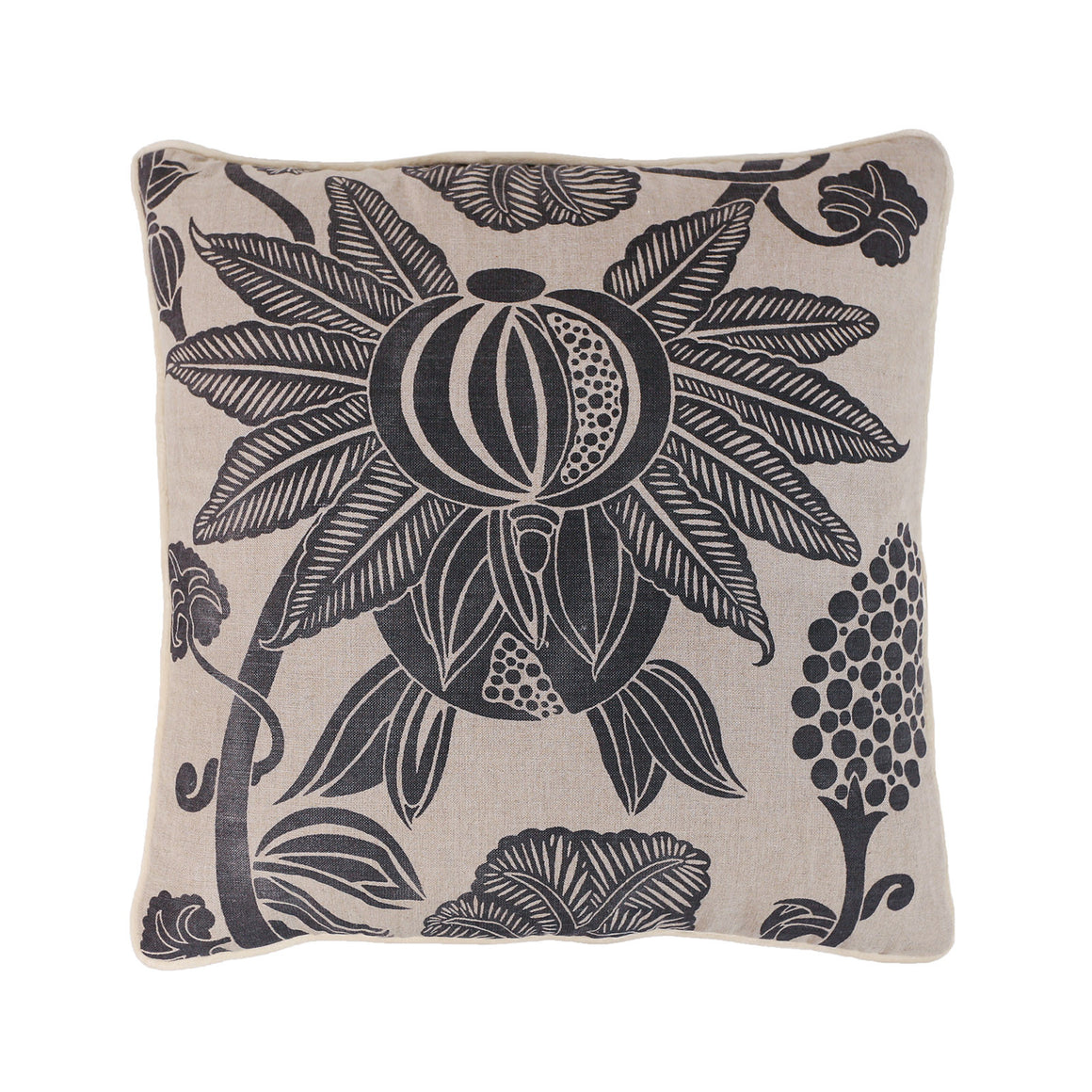 Pomegranate cushion - charcoal