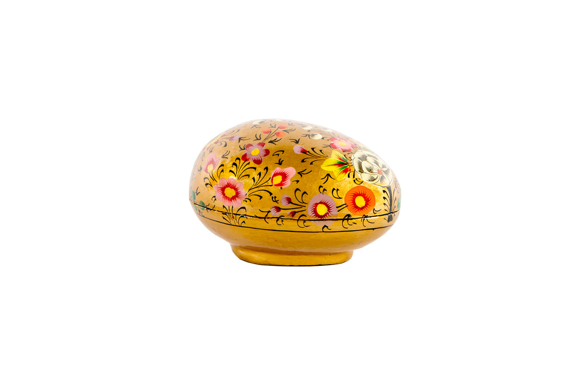Gold painted Easter egg gift box