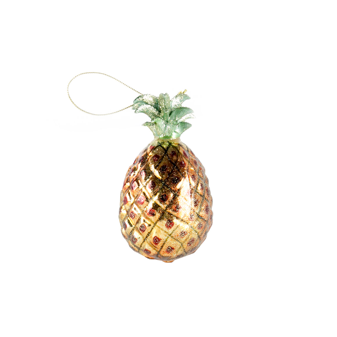 Pineapple glass Christmas baubles