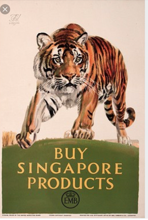 Empire marketing board tiger painting