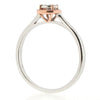 Rings - Round diamond cluster ring in 9ct white and rose gold, 0.13ct  - PA Jewellery
