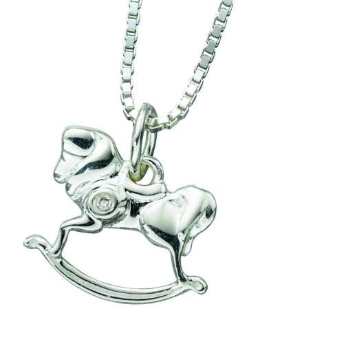 Neckwear - Rocking horse pendant and chain in silver  - PA Jewellery