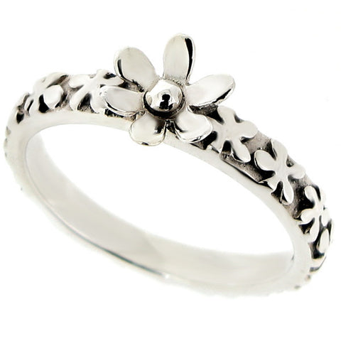 Ring - Flower ring in silver  - PA Jewellery
