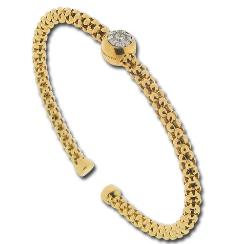 "Wristwear - ""Bouquet"" diamond set bangle in 18ct yellow gold  - PA Jewellery"
