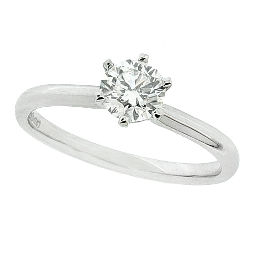 Brilliant cut diamond solitaire ring in platinum, 0.50ct