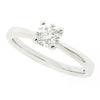 Brilliant cut diamond solitaire ring in platinum, 0.40ct