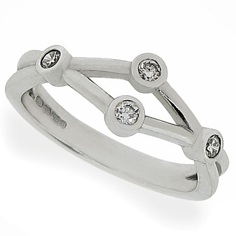Ring - Diamond dress ring in 18ct white gold, 0.14ct  - PA Jewellery