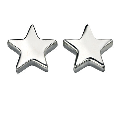Star stud earrings in silver
