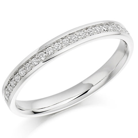 Ring - Grain set diamond half eternity ring, 0.15ct  - PA Jewellery