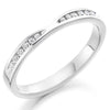 Ring - Diamond set shaped band ring, 0.18ct  - PA Jewellery