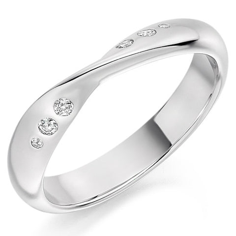 Ring - Diamond set twist band ring, 0.09ct  - PA Jewellery