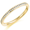 Ring - Round brilliant cut diamond channel set half eternity ring, 0.20ct  - PA Jewellery