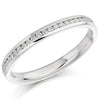 Ring - Round brilliant cut diamond channel set half eternity ring, 0.15ct  - PA Jewellery