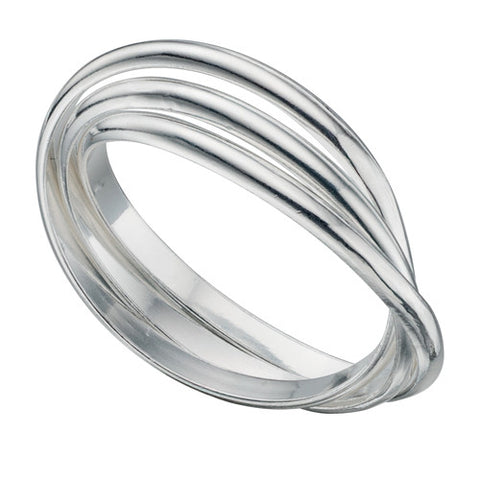 'Russian wedding' triple band ring in silver