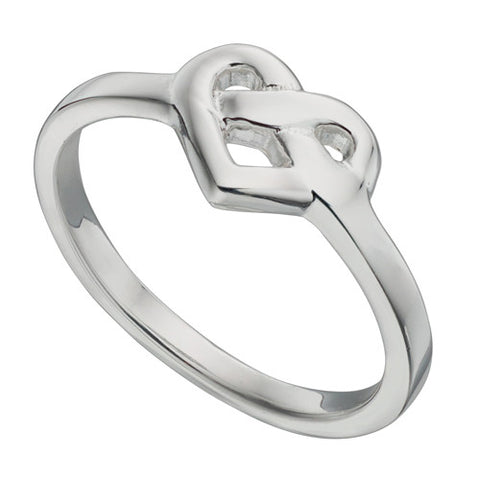 Celtic style heart ring in silver