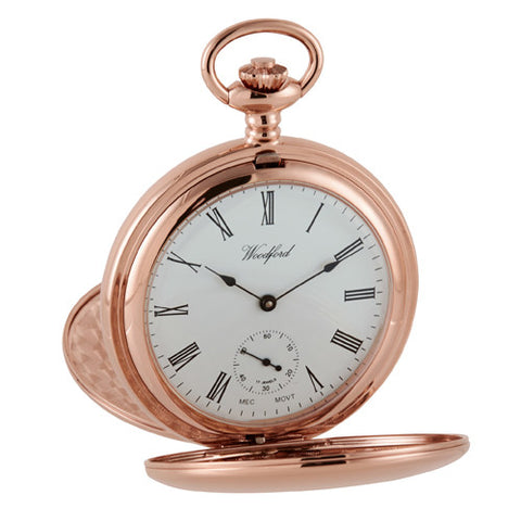 Watch - Pocket watch with Albert chain in rose gold plated metal model 1093  - PA Jewellery