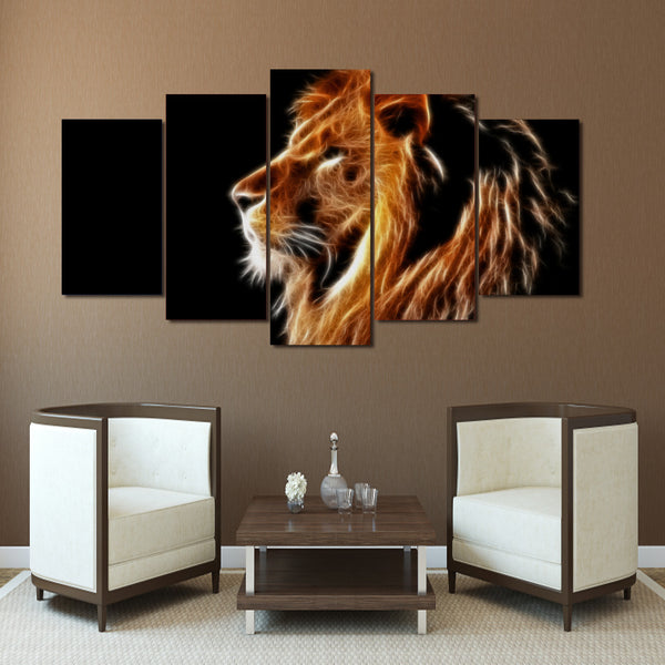 HD Printed Animals Lion Group Painting Canvas Print room decor print poster picture canvas Free shipping/F026
