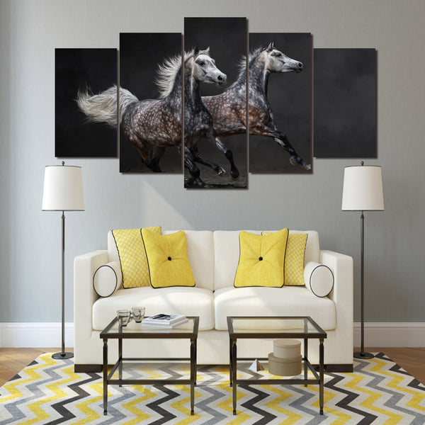 HD Printed Galloping horses Painting Canvas Print room decor print poster picture canvas Free shipping/ny-1649