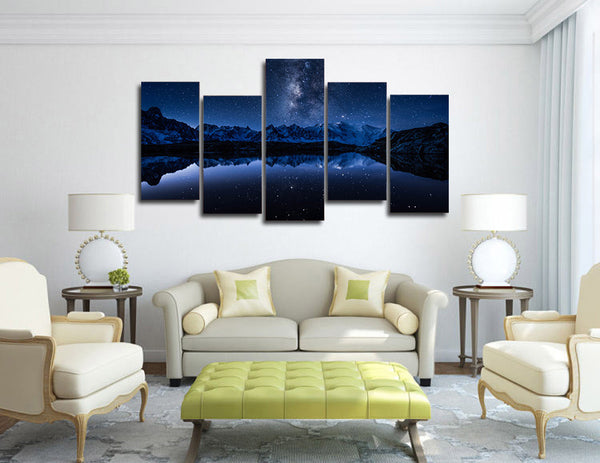 HD Printed ozero gory mlechnyy put Painting Canvas Print room decor print poster picture canvas Free shipping/ny-4395
