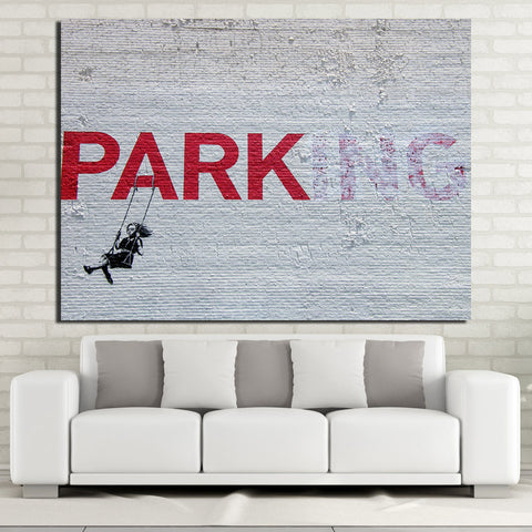 HD Printed 1 Piece Canvas Art  Banksy poster wall art for Living Room Home Decor Free Shipping NY-7068D