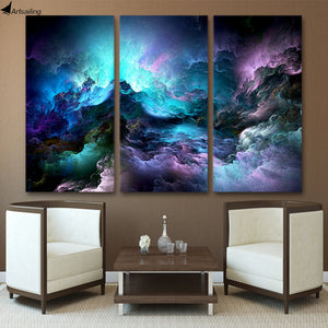 HD Printed 3 piece canvas art abstract psychedelic nebula space cloud Painting canvas painting wall art Free shipping ArtSailing
