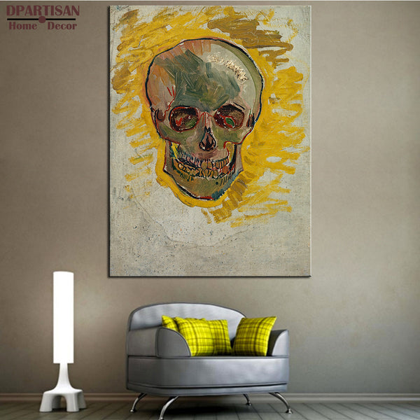 DPARTISAN Vincent Van Gogh Schedel face art Giclee wall Art Canvas Prints No frame wall painting for home living rooms pictures