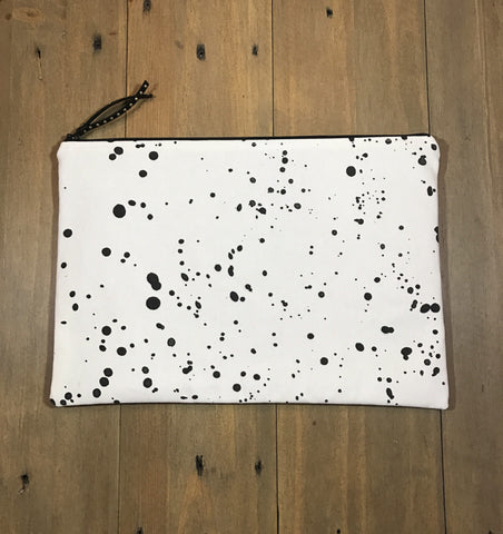 Black & White Spotted Clutch
