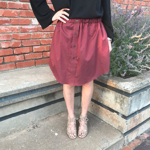 Maroon Oxford Skirt