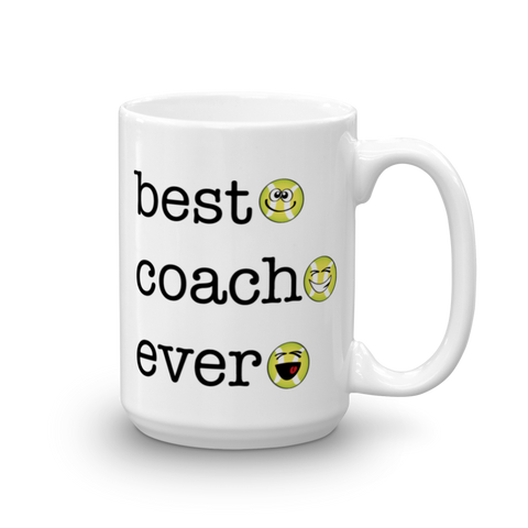 White Best Coach Ever, Tennis Sporji Mug