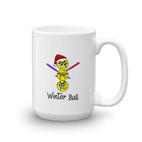 Winter Ball Holiday Softball Mug 15oz