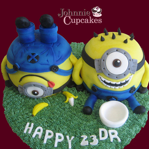 Giant Cupcake Double Minion - Johnnie Cupcakes