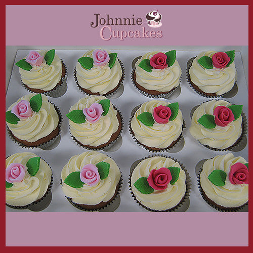 Rose Flowers Cupcakes. - Johnnie Cupcakes