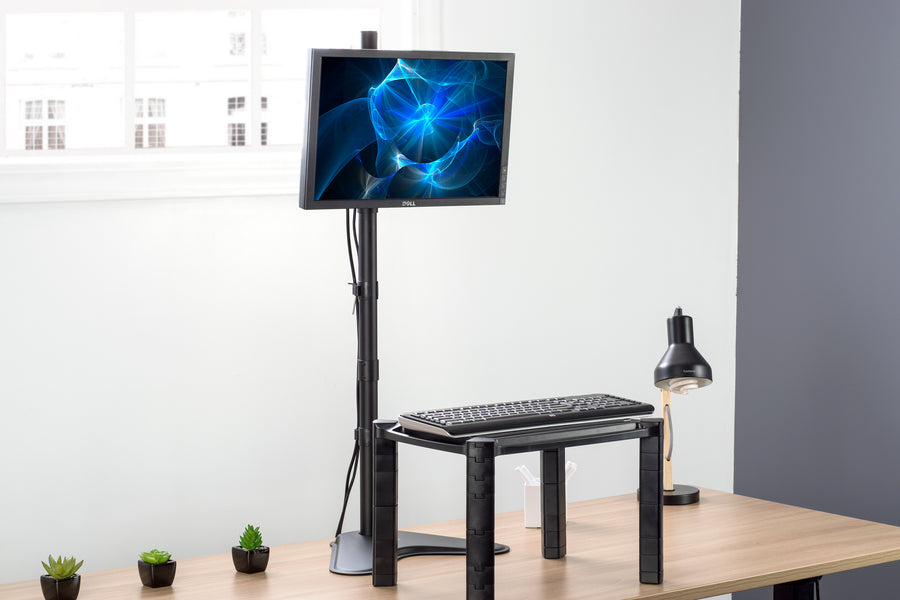 STAND-V011H <br><br>Single Monitor Extra Tall Desk Stand