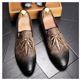 Retro pointed casual foot small leather shoes