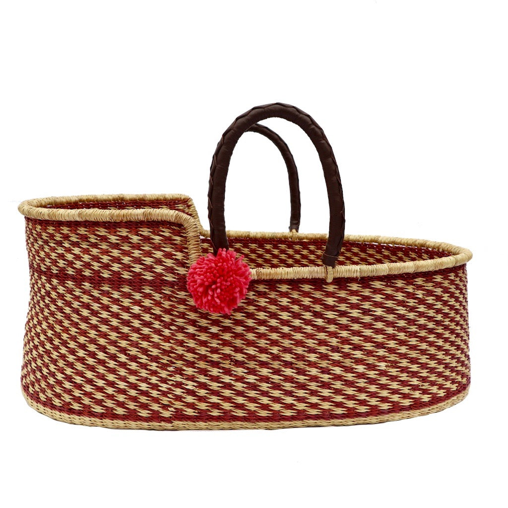 Cranberry Crush Handmade Moses Basket