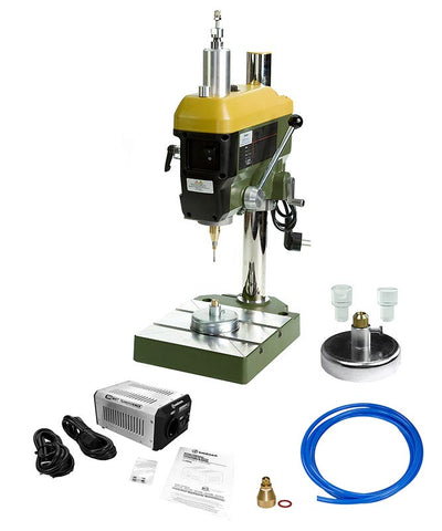 The Gunther TBH Pro II Drilling System is our top of the line lapidary bench top drill press system for professionals.