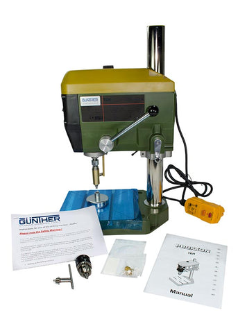 Proxxon Bench Top Drill Press for The Gunther Hobby Lapidary Drilling System.