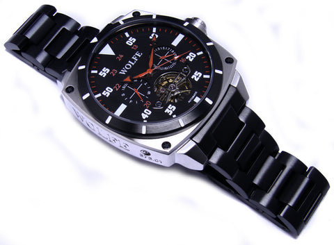 Black & Red Version 6 by WOLFE WATCHES