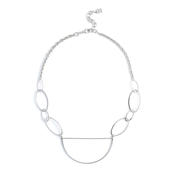 Outlining Silver Happiness Necklace